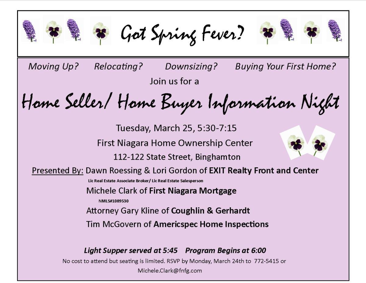 Home Sellers/Home Buyers Informational Workshop