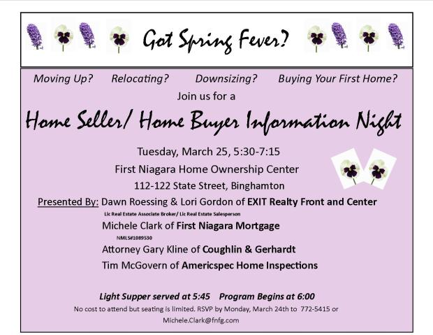 Home Sellers/Home Buyers Informational Workshop